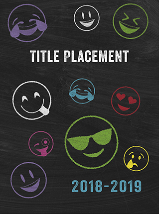 Chalkboard Emoji Cover, Yearbook Cover 9002