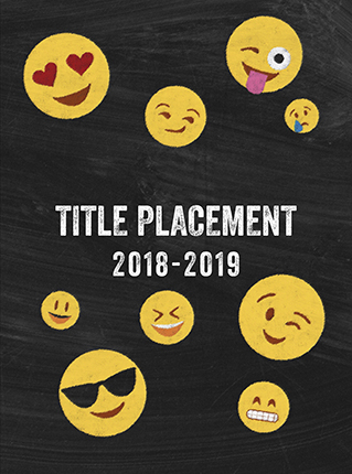 emoji cover, emoticon cover, blackboard, chalkboard, elementary school yearbook cover