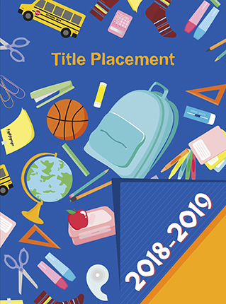 Colorful School Icons, Yearbook Cover 9004