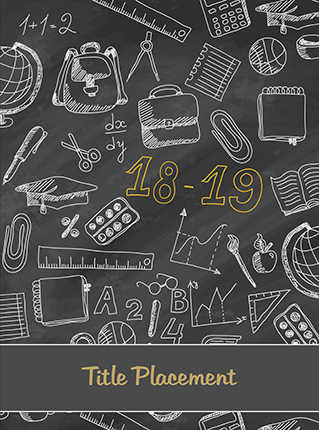 Chalkboard School Icon, Yearbook Cover 9006