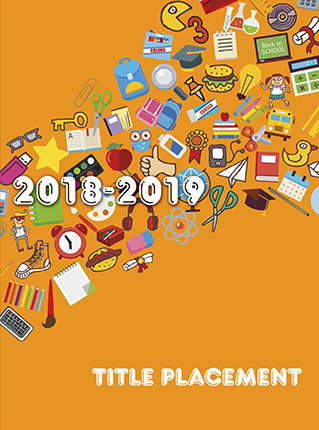 Yearbook Cover 9010, Orange with School Icons