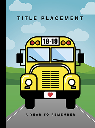 Yearbook Cover 9013, Yellow School Bus