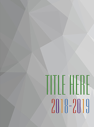 Yearbook Cover 9017, Ombre Grey Geometric Cover