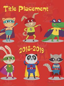 superhero animal cover, red super hero cover, animal cover, elementary school yearbook cover