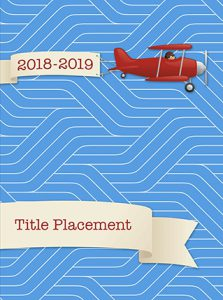 airplane cover, clouds, elementary school yearbook cover