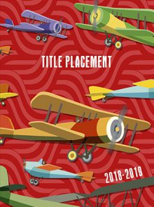 red airplane, jet, airplanes, elementary school, yearbook cover