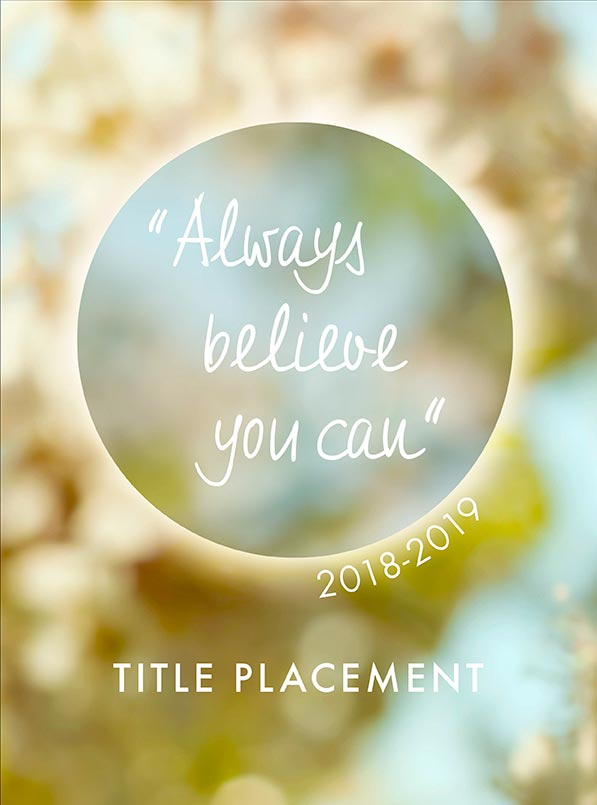 Yearbook Cover 9049, Inspirational Yearbook Cover
