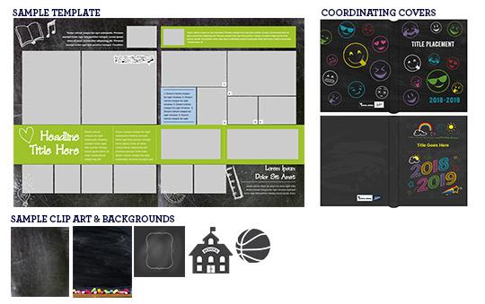 chalkboard theme, chalkboard yearbook, chalkboard school, elementary school yearbook theme, chalk yearbook theme